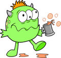 Green Drunk Monster Stock Photography