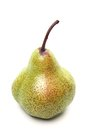Green duchess pear isolaed on white a background Stock Photos