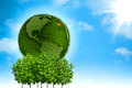 Green Earth. Royalty Free Stock Photos
