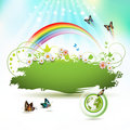 Green Earth background Royalty Free Stock Photo