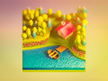 Green earth concept in isometric view background Stock Image