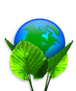 Green Earth Ecology graphic 3D Stock Photos