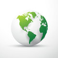 Green earth globe america Royalty Free Stock Photo