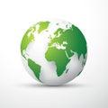 Green earth globe Royalty Free Stock Photo