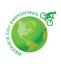 Green earth with pushbike Stock Photos