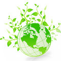 Green Earth Simbol Royalty Free Stock Photography
