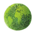 Green earth on white background Royalty Free Stock Photo