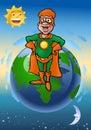 Green echo super hero
