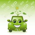 Green Eco Car Royalty Free Stock Photography