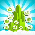 Green Eco City Stock Photography