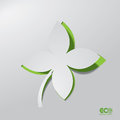 Green eco concept abstract leaf editable vector format Royalty Free Stock Photo