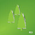 Green eco concept abstract pine editable vector format Stock Photography