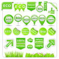 Green Eco Design Elements Stock Image