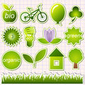 Green eco elements Royalty Free Stock Photo