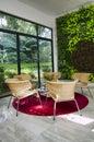 Green eco friendly environment living room housing Royalty Free Stock Photo