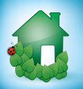 Green Eco-friendly House Royalty Free Stock Photo