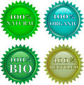 Green eco friendly  labels Royalty Free Stock Images