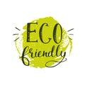 Green Eco Friendly Sticker Wit...