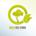 Green eco friendly tree icon for products and presentations Stock Photos