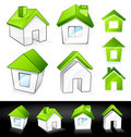 Green eco homes Royalty Free Stock Photo