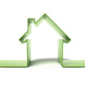Green eco house concept Royalty Free Stock Photos