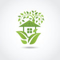 Green eco house vector illustration Stock Image