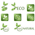 Green ECO icons Royalty Free Stock Image