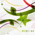 Green eco nature minimal floral concept flying leaves flying leaves template Stock Photography