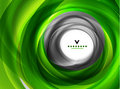 Green eco swirl abstract design template Royalty Free Stock Images