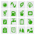 Green eco symbols Stock Image