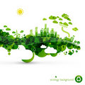 Green eco town Royalty Free Stock Image