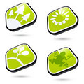 Green ecological buttons Stock Photos