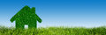 Green, ecological house, real estate concept Royalty Free Stock Photo