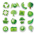 Green ecological icons Royalty Free Stock Photo