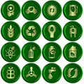 Green ecological icons Stock Image