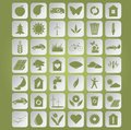 Green ecological icons vector image of on papers Stock Image