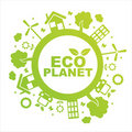 Green ecological planet Royalty Free Stock Photography