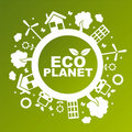Green ecological planet Royalty Free Stock Photos