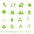 Green ecology and environment symbols Stock Image