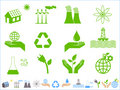 Green ecology icons Stock Photo