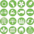 Green ecology icons Royalty Free Stock Photos