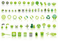Green ecology icons Royalty Free Stock Photo