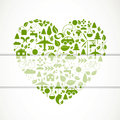 Green ecology icons illustration of a heart of Royalty Free Stock Image