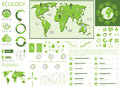 Green ecology info graphics Stock Image