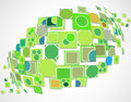 Green ecology innovation computer technology vector background. Royalty Free Stock Photo