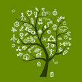 Green ecology tree concept Stock Photography