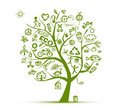 Green ecology tree concept for your design Royalty Free Stock Images