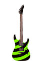 Green electric guitar isolated on white background Royalty Free Stock Photo