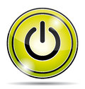 Green electrical power button icon. Royalty Free Stock Photo