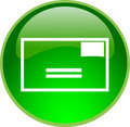 Green email button Royalty Free Stock Photo